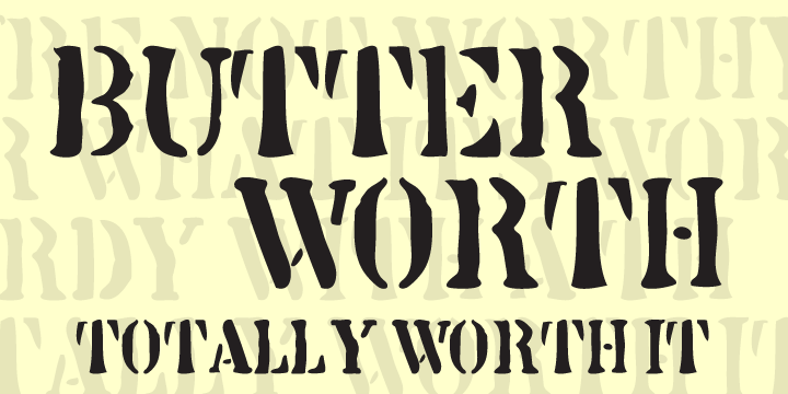 Print on Demand: Butterworth Family Display Font By AdultHumanType