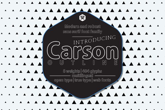 Carson Outline Display Font By Quzma Supply Co.
