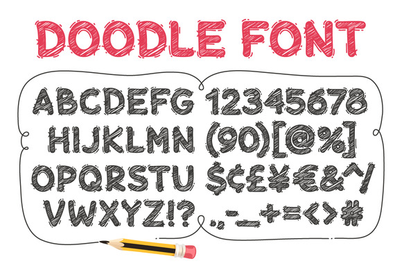 Print on Demand: Cartoon Doodle Display Font By Voysla's Shop