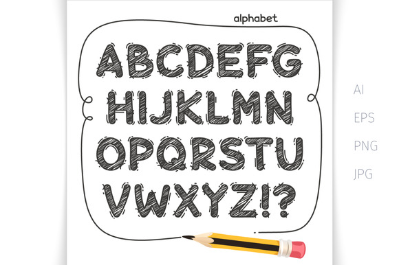 Print on Demand: Cartoon Doodle Display Font By Voysla's Shop - Image 3
