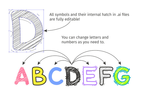 Print on Demand: Cartoon Doodle Display Font By Voysla's Shop - Image 5