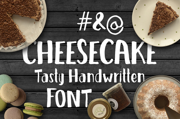Print on Demand: Cheesecake Display Font By vitekprchal