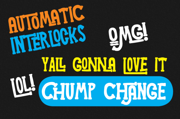 Print on Demand: Chump Change Display Font By AdultHumanType