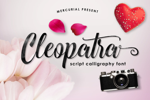 Print on Demand: Cleopatra Script & Handwritten Font By Mercurial - Image 1
