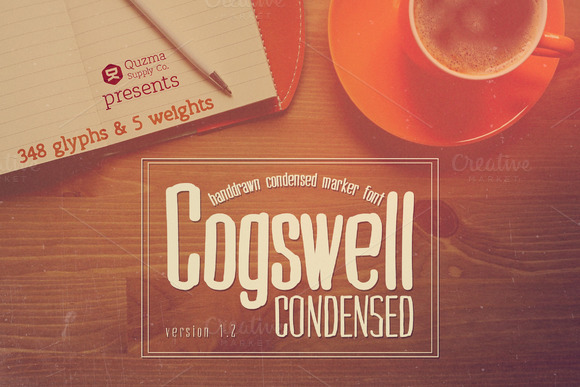 Cogswell Condensed Sans Serif Font By Quzma Supply Co.