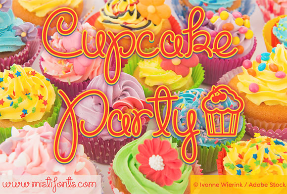 Cupcake Party Script & Handwritten Font By Misti