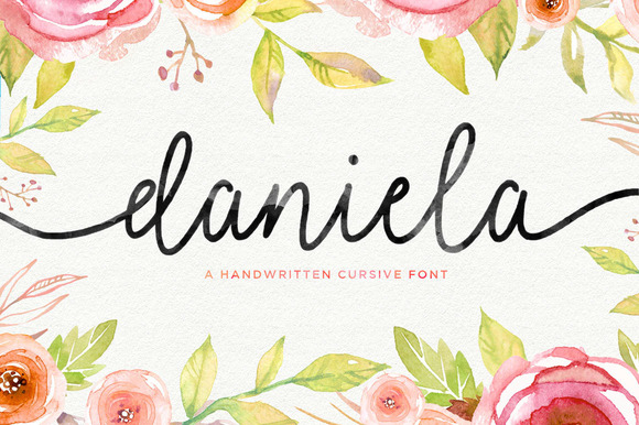 Print on Demand: Daniela Script Script & Handwritten Font By Seniors Studio