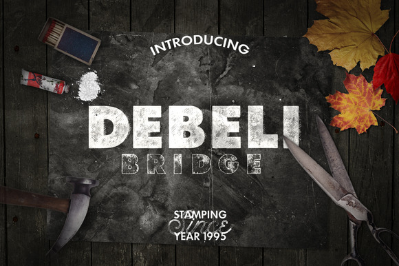 Print on Demand: Debeli 2 Display Font By Leonard Posavec - Image 1