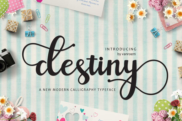 Print on Demand: Destiny Script & Handwritten Font By VanRoem