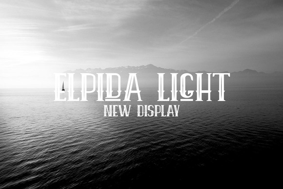 Print on Demand: Elpida Light Display Font By Ijem RockArt - Image 1