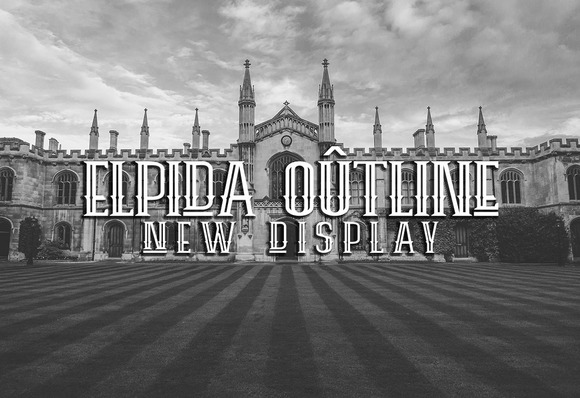 Print on Demand: Elpida Outline Display Font By Ijem RockArt