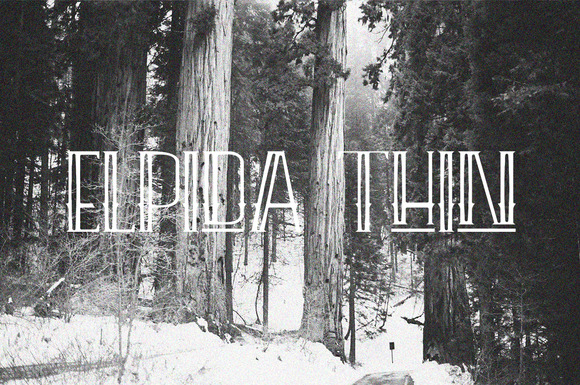 Print on Demand: Elpida Thin Display Font By Ijem RockArt