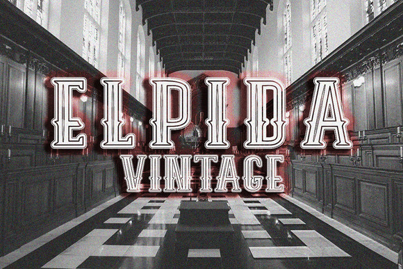 Print on Demand: Elpida Vintage Display Font By Ijem RockArt