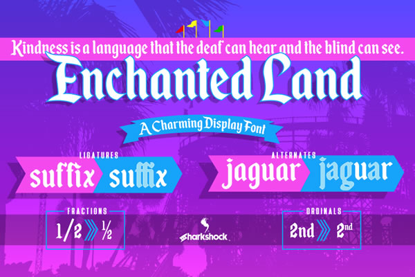 Print on Demand: Enchanted Land Display Font By Sharkshock