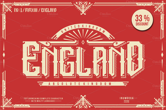 Print on Demand: England Display Font By inumocca_type