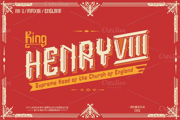 Print on Demand: England Display Font By inumocca_type - Image 2