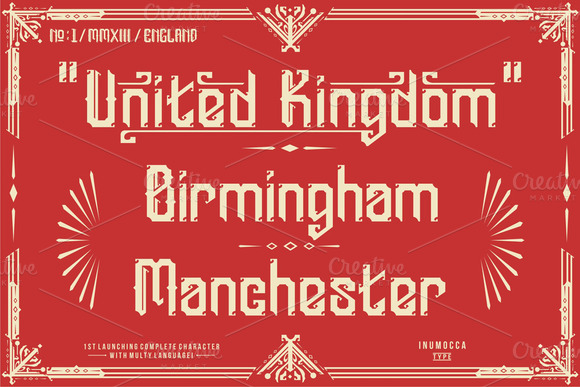 Print on Demand: England Display Font By inumocca_type - Image 3