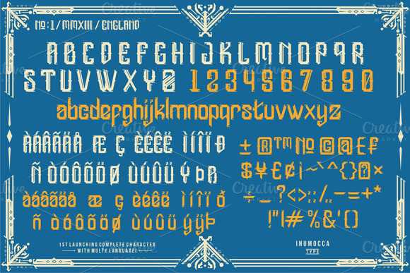 Print on Demand: England Display Font By inumocca_type - Image 4