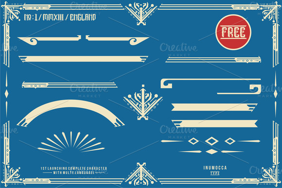Print on Demand: England Display Font By inumocca_type - Image 5