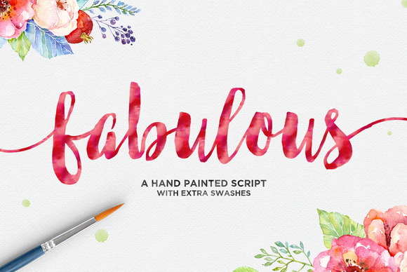 Print on Demand: Fabulous Script Script & Handwritten Font By Dhan Studio
