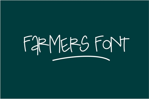 Print on Demand: Farmer Script & Handwritten Font By Carolina Mejia