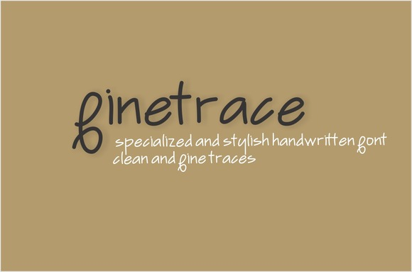 Print on Demand: Finetrace Script & Handwritten Font By Carolina Mejia
