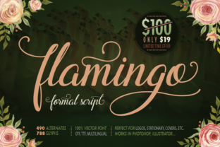 Flamingo Handwritten Font by Blessed Print in font subscription 1