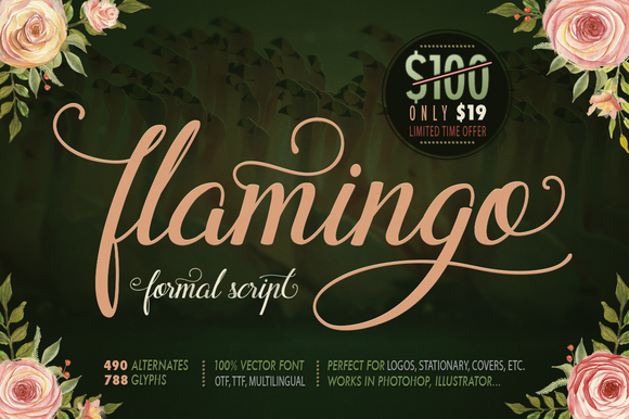 Print on Demand: Flamingo Script & Handwritten Font By Blessed Print