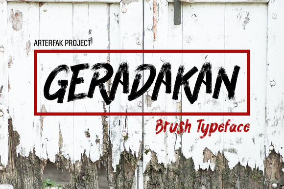 Print on Demand: Geradakan Script & Handwritten Font By Arterfak Project
