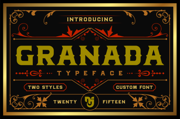 Print on Demand: Granada Display Font By Mikrojihad Typefounder