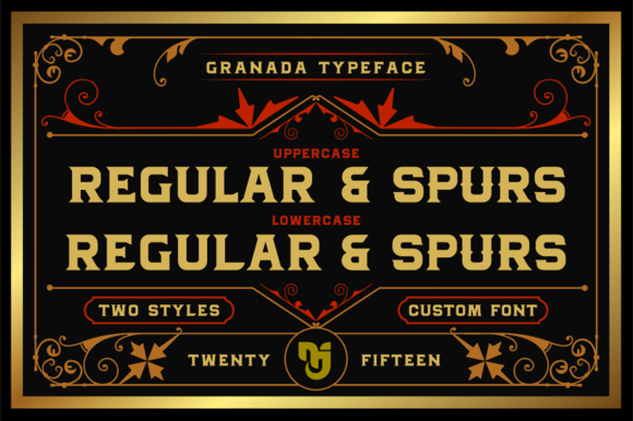 Print on Demand: Granada Display Font By Mikrojihad Typefounder - Image 2