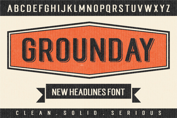 Print on Demand: Grounday Display Font By Seniors Studio