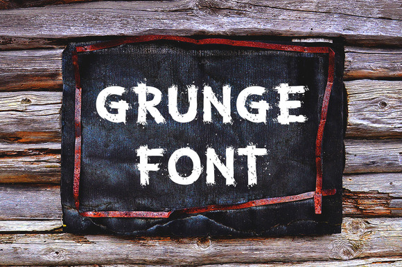 Print on Demand: Grunge Letters and Numbers Display Font By Voysla's Shop