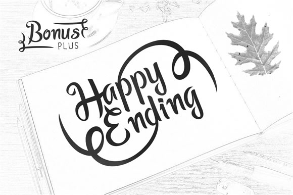 Print on Demand: Happy Ending Display Font By YandiDesigns