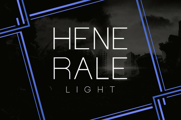 Print on Demand: Henerale Light Display Font By SNK