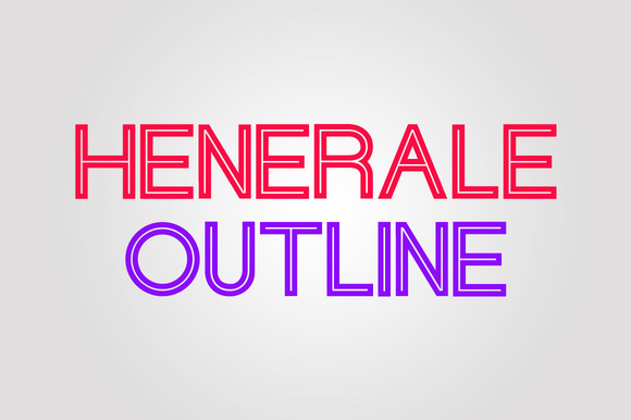 Print on Demand: Henerale Outline Display Font By SNK