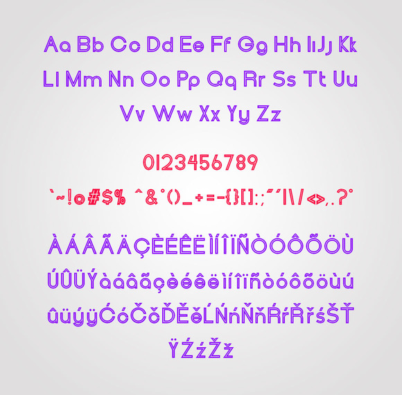 Print on Demand: Henerale Outline Display Font By SNK - Image 5