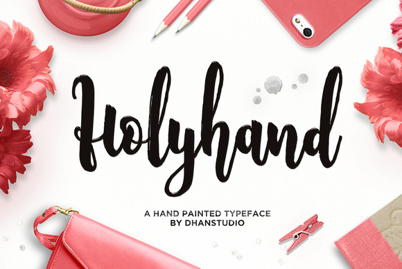 Print on Demand: Holyhand Script Script & Handwritten Font By Dhan Studio