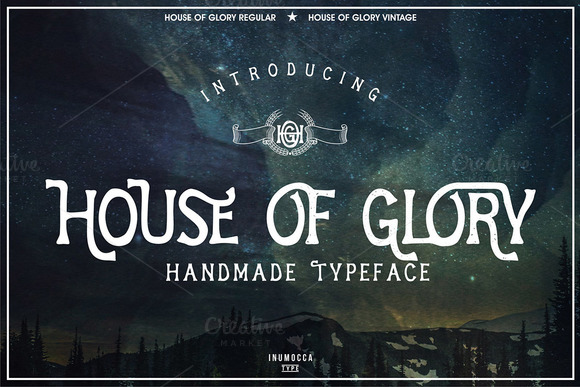 House of Glory Display Font By inumocca_type