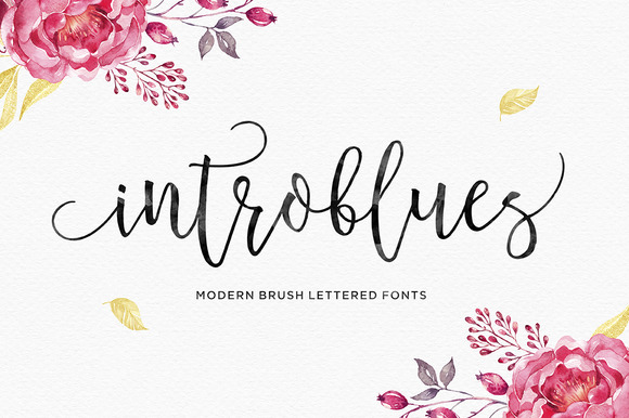 Print on Demand: Introblues Script Script & Handwritten Font By Dhan Studio