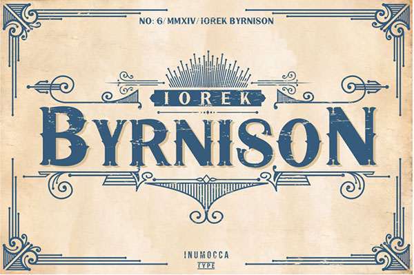 Iorek Byrnison Display Font By inumocca_type