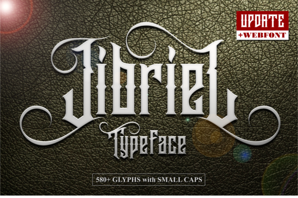 Print on Demand: Jibriel Blackletter Font By Mikrojihad Typefounder
