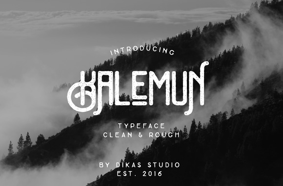 Print on Demand: Kalemun Typeface Display Font By Dikas Studio