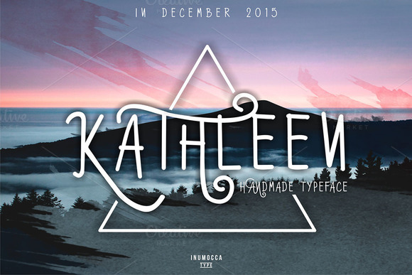 Print on Demand: Kathleen Script & Handwritten Font By inumocca_type