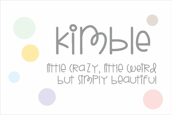 Print on Demand: Kimble Font Script & Handwritten Font By Carolina Mejia