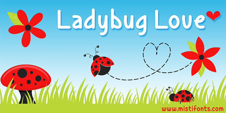 Print on Demand: Ladybug Love Serif Font By Misti