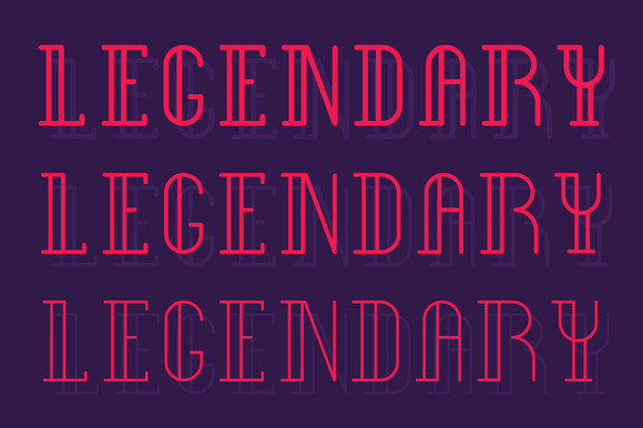 Print on Demand: Legendary Type Display Font By SNK