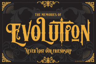 Lost Volution Blackletter Font 1