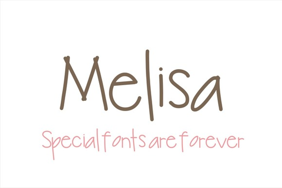 Print on Demand: Melisa Font Script & Handwritten Font By Carolina Mejia