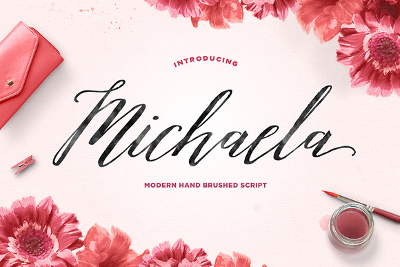 Print on Demand: Michaela Script Script & Handwritten Font By Dhan Studio